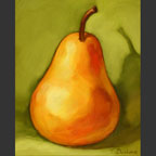 pear on green